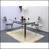 Стол обеденный B2087-2 (хром, лак коричневый R017)