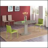 Стол обеденный B2396 (капучино глянец W027, стекло капучино)