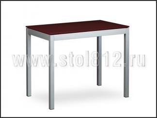 Стол обеденный B2170-2 (мат, стекло коричневое BROWN, вставка коричневая)