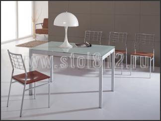 Стол обеденный B2170 (мат, стекло белое WHITE, вставка белая)