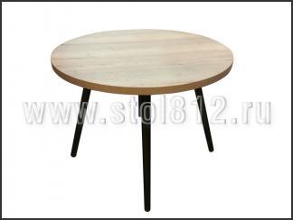 Стол обеденный Норд-90 (опоры венге, столешница дуб галифакс)