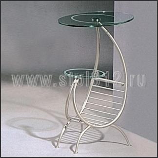 Стол журнальный A1033-4 (мат, стекло прозрачное)