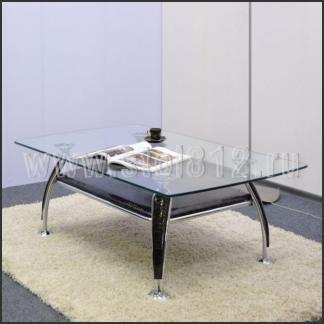 Стол журнальный A1119 (хром, лак коричневый R017)