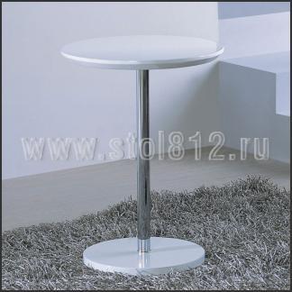 Стол журнальный A1373A (хром, глянец белый W023)