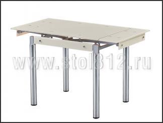 Стол обеденный B179-35 (хром, стекло бежевое)