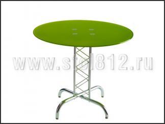 Стол обеденный B2019 (хром, стекло салатовое GREEN)