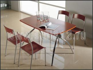 Стол обеденный B2163 (хром, вишня Q001)