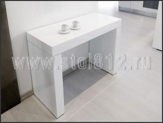 Стол-консоль N110 (белый глянец)