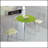 Стол обеденный B2206C (хром, стекло салатовое GREEN)