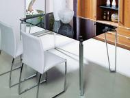 Обеденные столы с прямоугольной стеклянной столешницей