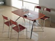 Обеденные столы с прямоугольной деревянной столешницей