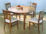 Обеденные столы с круглой деревянной столешницей